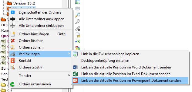 Powerpoint - Ordnerlink senden
